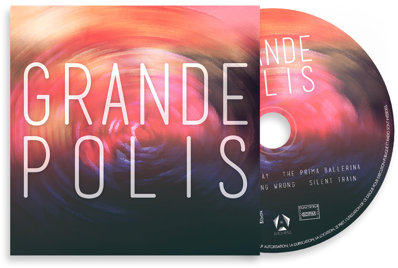 CD & pochette du second EP de GRANDEPOLIS